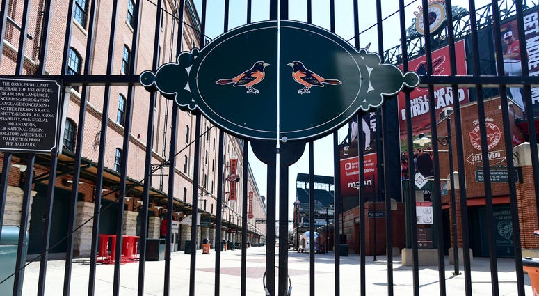 An empty Oriole Park on what should have been opening day