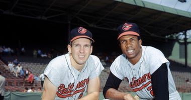 Brooks Robinson and Frank Robinson