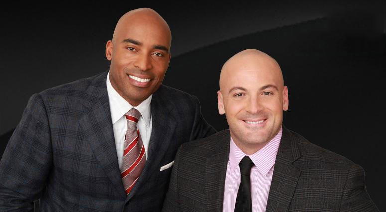 Tiki Barber and Brandon Tierney