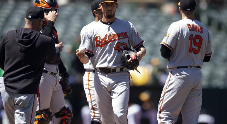 Terry Ford reacts to Orioles eighth straight loss