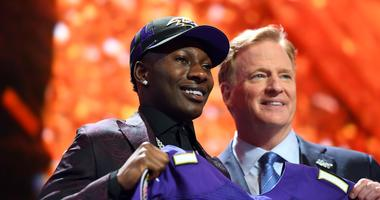 Marquise Brown and Roger Goodell
