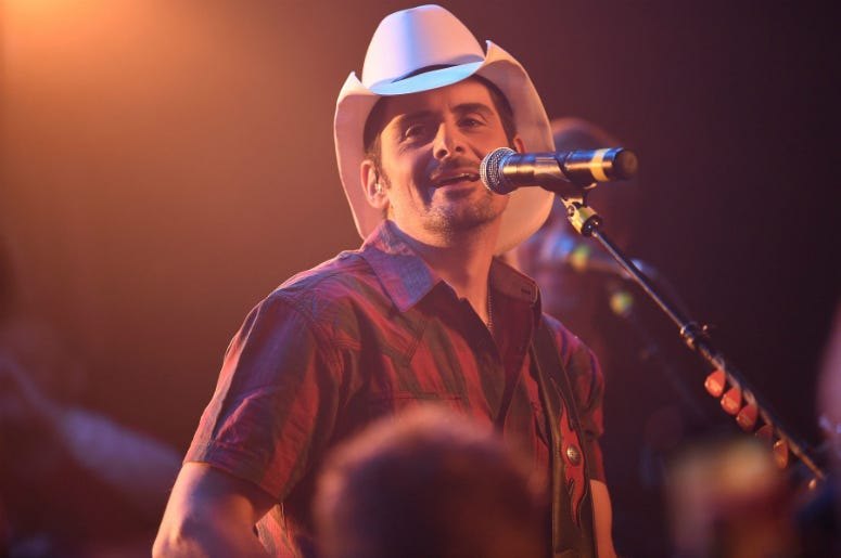 "Brad Paisley performs as he shoots a video for his new song ""Bucked Off\"" at Tootsie's Orchid Lounge"