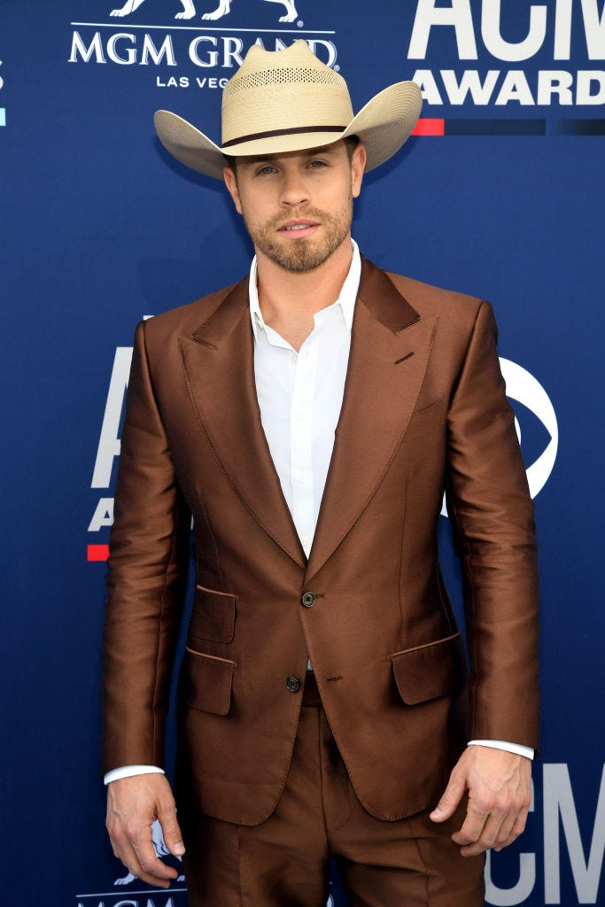 Dustin Lynch attends the 54th Academy Of Country Music Awards at MGM Grand Hotel & Casino on April 07, 2019 in Las Vegas, Nevada