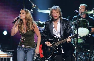 Jon Bon Jovi and Jennifer Nettles