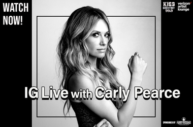 Carly Pearce IG Live watch now
