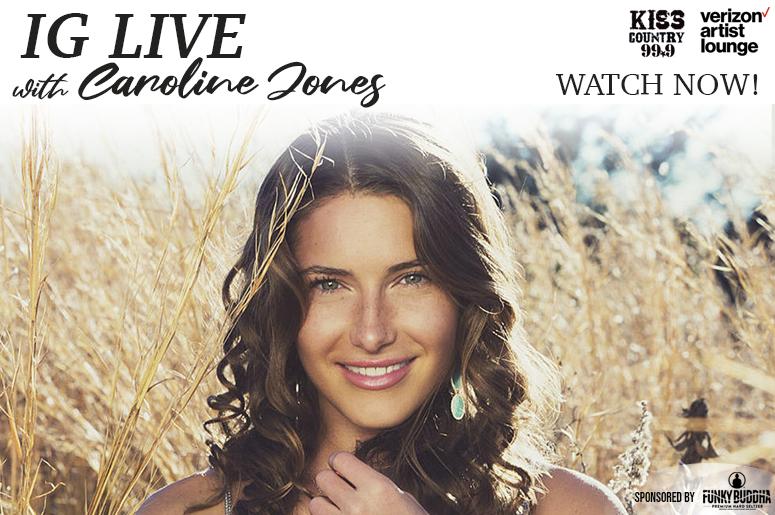 Caroline Jones IG Live Watch Now