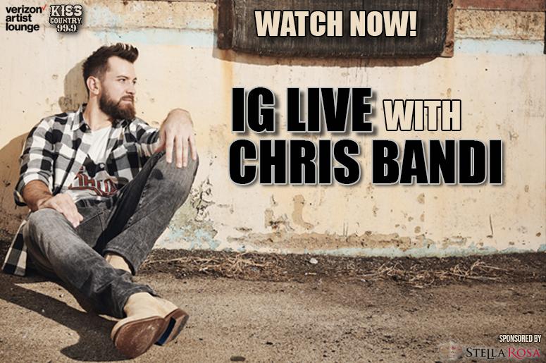 chris bandi IG live watch now