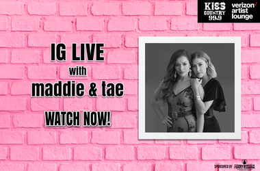 Maddie and Tae IG Live Watch Now