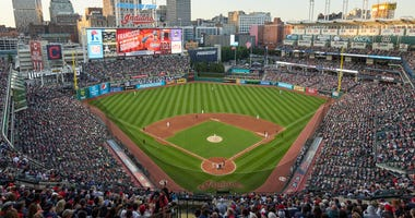Renderings of the extended netting Indians Cleveland