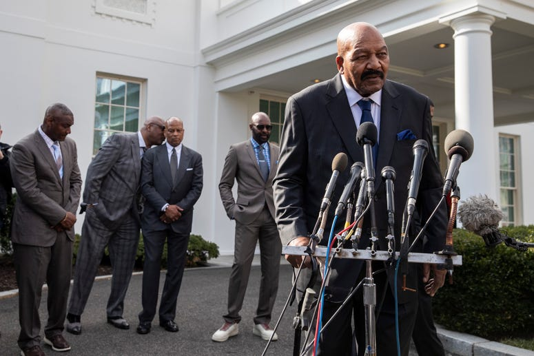 Jim Brown White House