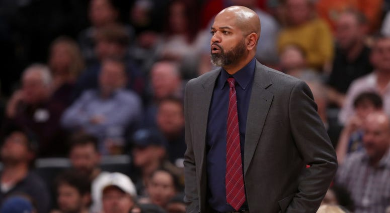 DECEMBER 10: Head coach J. B. Bickerstaff of the Memphis Grizzlies works the sidelines while playing the Denver Nuggets at the Pepsi Center on December 10, 2018 in Denver,
