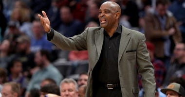 DENVER, COLORADO - JANUARY 19: Head coach Larry Drew of the Cleveland Cavaliers works the sidelines against the Denver Nuggets at the Pepsi Center on January 19, 2019 in Denver, Colorado.