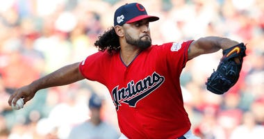 CLEVELAND, OH - AUGUST 01: Danny Salazar #31 of the Cleveland Indians pitches against the Houston Astros in the first inning at Progressive Field on August 1, 2019 in Cleveland, Ohio. (Photo by David Maxwell/Getty Images)