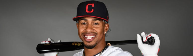 GOODYEAR, ARIZONA - FEBRUARY 19: Francisco Lindor #12 of the Cleveland Indians poses during MLB Photo Day on February 19, 2020 in Goodyear, Arizona. (Photo by Norm Hall/Getty Images)