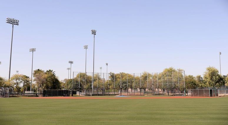 GLENDALE, ARIZONA - APRIL 07: General view of a practice field at the Los Angeles Dodgers and Chicago White Sox spring training facility, Camelback Ranch on April 07, 2020 in Glendale, Arizona. According to reports, Major League Baseball is considering a