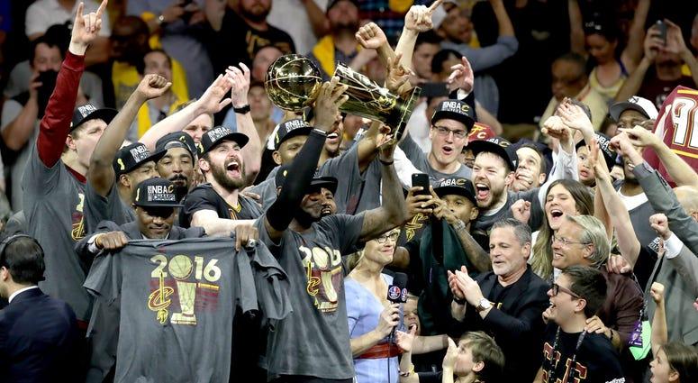 LeBron James Cleveland Cavaliers 2016 NBA Champions