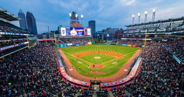 CLEVELAND, OH - APRIL 13: A general view of Progressive Field during the game between the Toronto Blue Jays and the Cleveland Indians on April 13, 2018 in Cleveland, Ohio. The Blue Jays defeated the Indians 8-4. (Photo by Jason Miller/Getty Images)