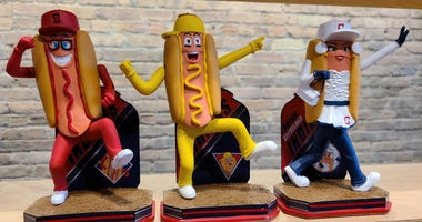 Cleveland Indians Hot Dog Derby Limited Edition Bobbleheads