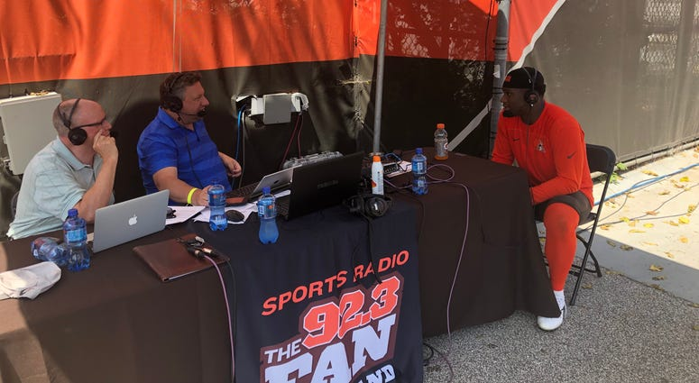 Mack Wilson joined Andy Baskin and Jeff Phelps at Browns training camp
