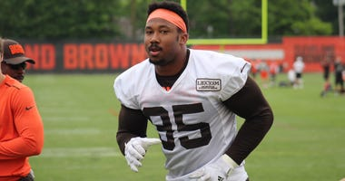 Browns defensive end Myles Garrett