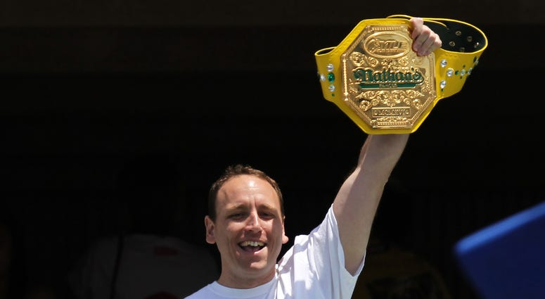Joey Chestnut, 11 time Mustard Belt winner