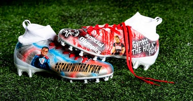 Baker Mayfield special Olympics cleats