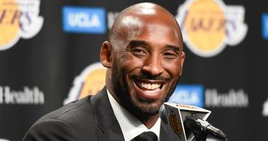 Former Los Angeles Lakers player Kobe Bryant