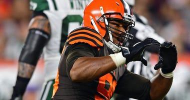 Myles Garrett Cleveland Browns Jets sack celebration