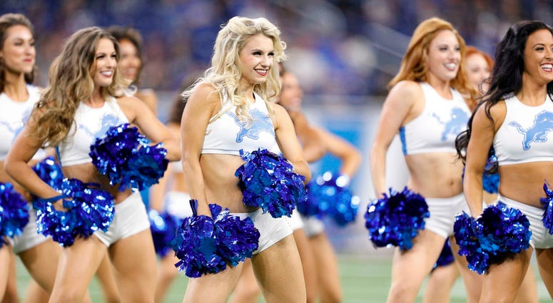 Sep 23, 2018; Detroit, MI, USA; Detroit Lions cheerleaders perform before the game against the New England Patriots at Ford Field. Mandatory Credit: Raj Mehta-USA TODAY Sports