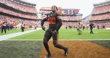 Christian Kirksey Cleveland Browns Baltimore Ravens celebration