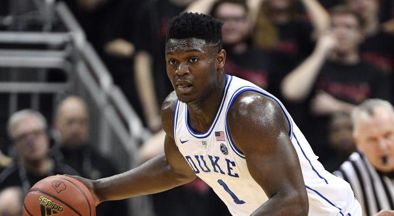 Duke Blue Devils forward Zion Williamson (1)