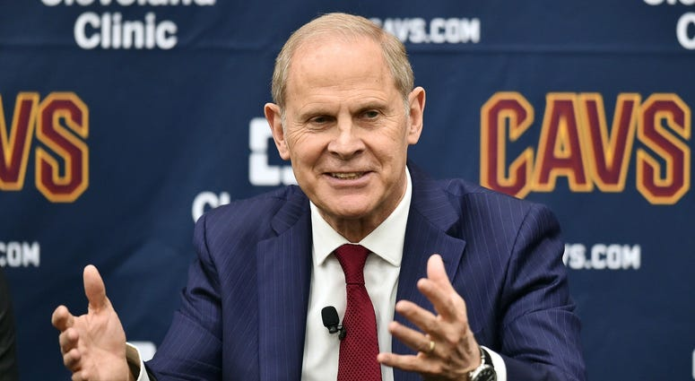 May 21, 2019; Cleveland, OH, USA; Cleveland Cavaliers head coach John Beilein speaks to the media during a press conference at Cleveland Clinic Courts. Mandatory Credit: Ken Blaze-USA TODAY Sports