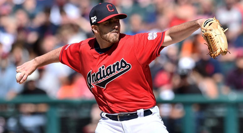 Jun 22, 2019; Cleveland, OH, USA; Cleveland Indians pitcher Aaron Civale (66) throws a pitch against the Detroit Tigers during the first inning at Progressive Field. Mandatory Credit: Ken Blaze-USA TODAY Sports