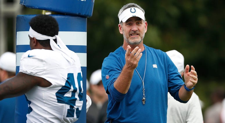 Indianapolis Colts head coach Frank Reich during their preseason training camp practice at Grand Park in Westfield on Wednesday, August 14, 2019. Colts Preseason Training Camp