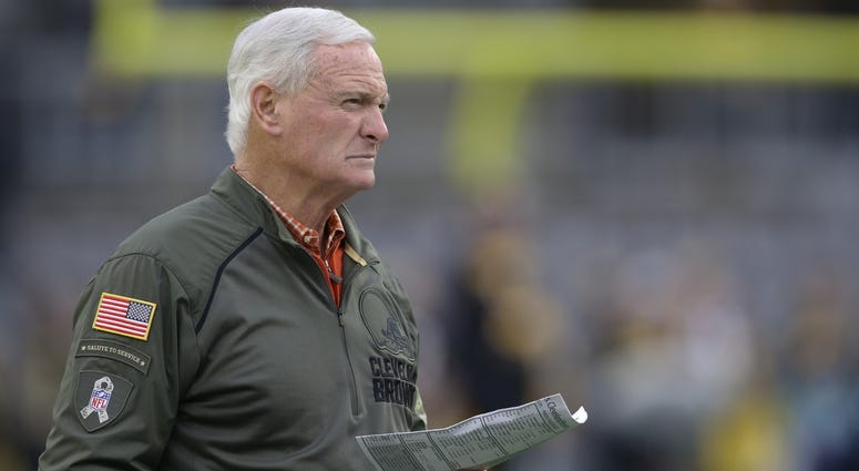 Dec 1, 2019; Pittsburgh, PA, USA; Cleveland Browns owner Jimmy Haslam Looks on before the Pittsburgh Steelers host the Browns at Heinz Field. Mandatory Credit: Charles LeClaire-USA TODAY Sports