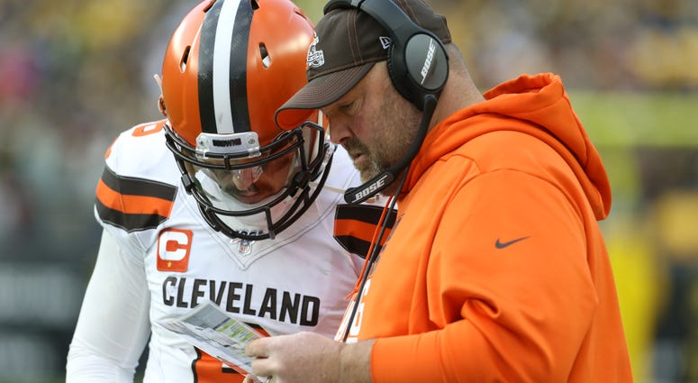 Freddie Kitchens Baker Mayfield Cleveland Browns Pittsburgh Steelers