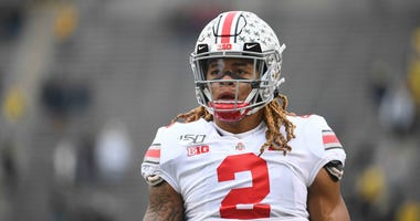 Nov 30, 2019; Ann Arbor, MI, USA; Ohio State Buckeyes defensive end Chase Young (2) before the game against the Michigan Wolverines at Michigan Stadium. Mandatory Credit: Tim Fuller-USA TODAY Sports