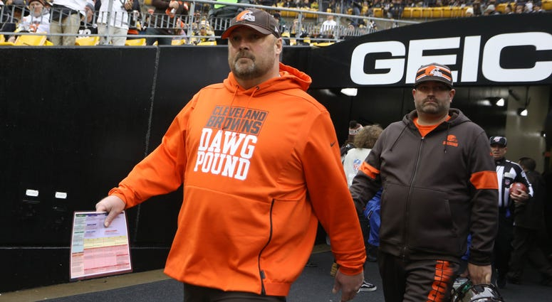 Freddie Kitchens entering Heinz Field