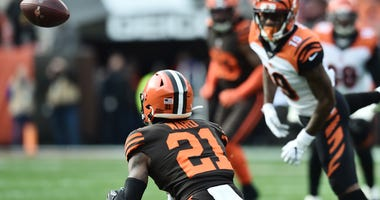 Denzel Ward Cleveland Browns interception return for touchdown Cincinnati Bengals