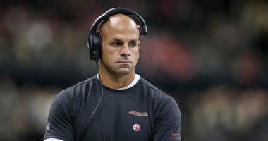 San Francisco 49ers defensive coordinator Robert Saleh