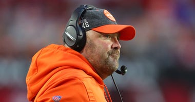 Cleveland Browns head coach Freddie Kitchens against the Arizona Cardinals at State Farm Stadium.