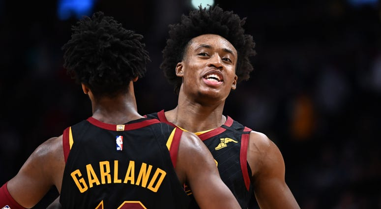 Cleveland Cavaliers guard Collin Sexton (2) and guard Darius Garland (10)