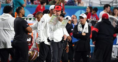 San Francisco 49ers head coach Kyle Shanahan against the Kansas City Chiefs in Super Bowl LIV
