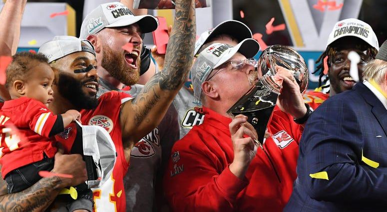 Andy Reid Kansas City Chiefs Super Bowl LIV champions