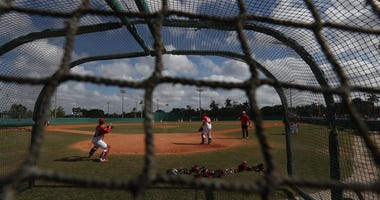 The Kia Tigers, a South Korean baseball team is spending spring training at Terry Park in Fort Myers