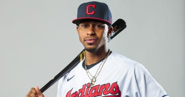 Cleveland Indians shortstop Francisco Lindor poses for a portrait during media day at the Indians training facility.