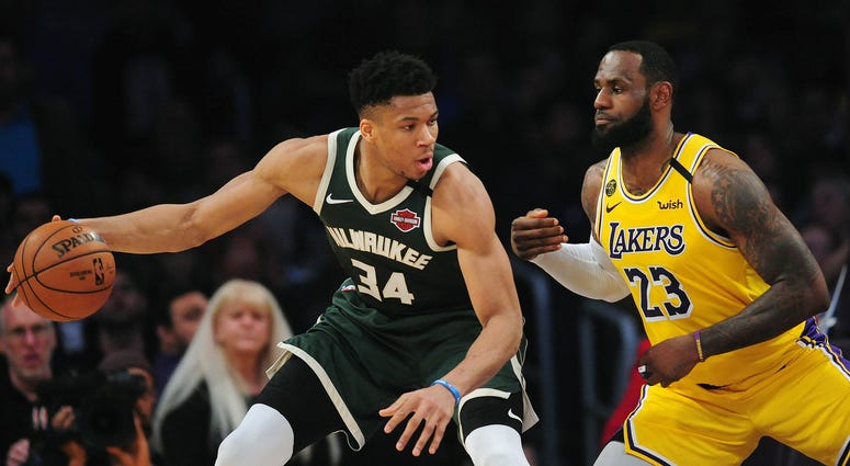 LeBron and Giannis