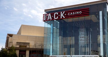 A view of the front entrance of JACK Cincinnati Casino