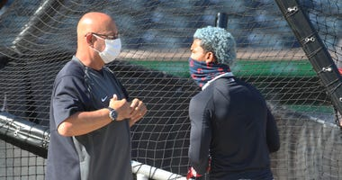 Cleveland Indians manager Terry Francona (and shortstop Francisco Lindor