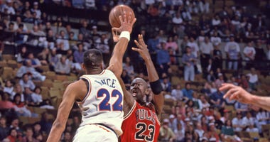 Michael Jordan and Larry Nance